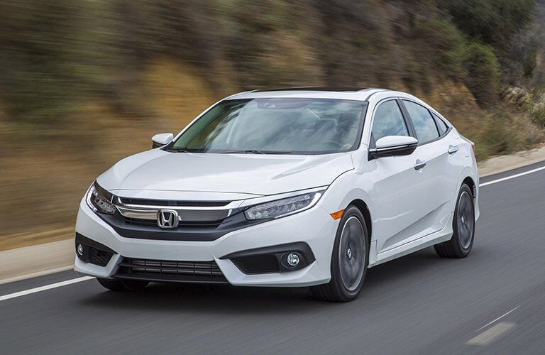 2017 Honda Civic Exterior View in White
