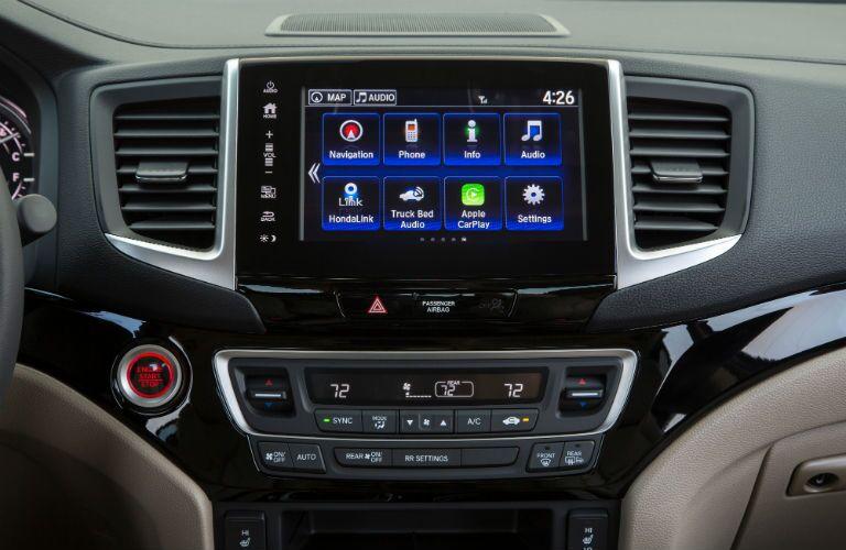 2019 Honda Ridgeline touchscreen display
