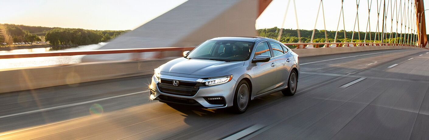 2020 Honda Insight driving on a road