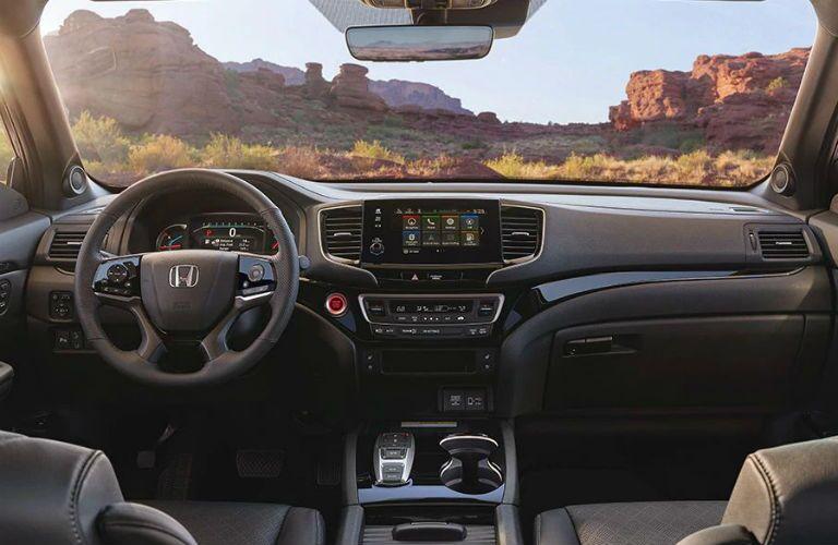 2020 Honda Passport dashboard and steering wheel