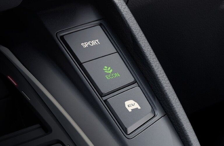 2020 Honda CR-V Hybrid Touring ECON, Sport and EV drive mode buttons