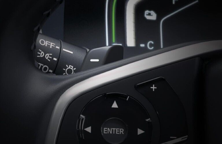 2020 Honda CR-V Hybrid Touring steering wheel-mounted deceleration selectors