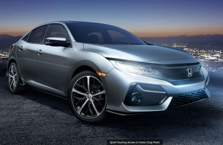 2020 Honda Civic Hatchback Sport Touring front and side profile