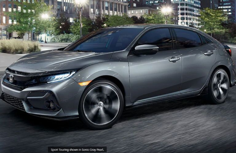 2020 Honda Civic Hatchback Sport Touring side profile