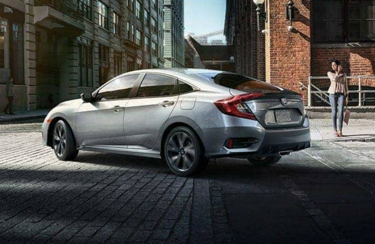 2020 Honda Civic Sedan driving on a road