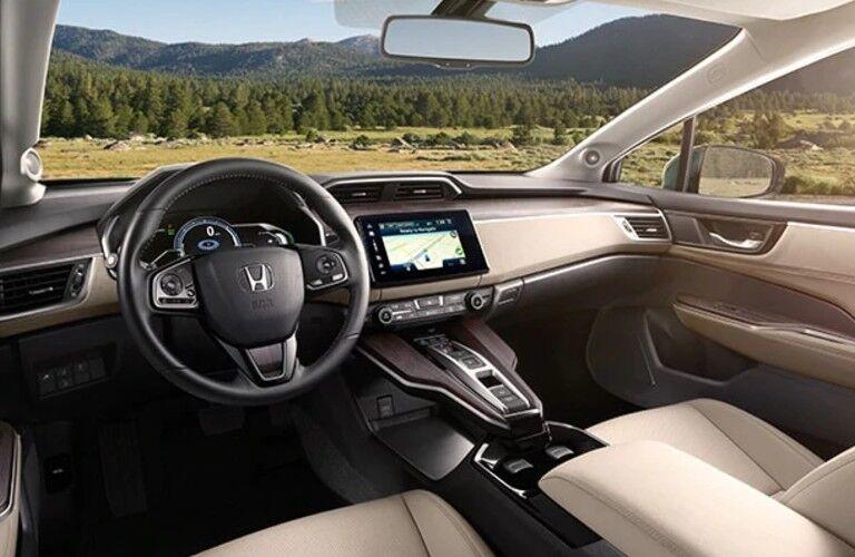 Honda Clarity Plug-In Hybrid dashboard and steering wheel