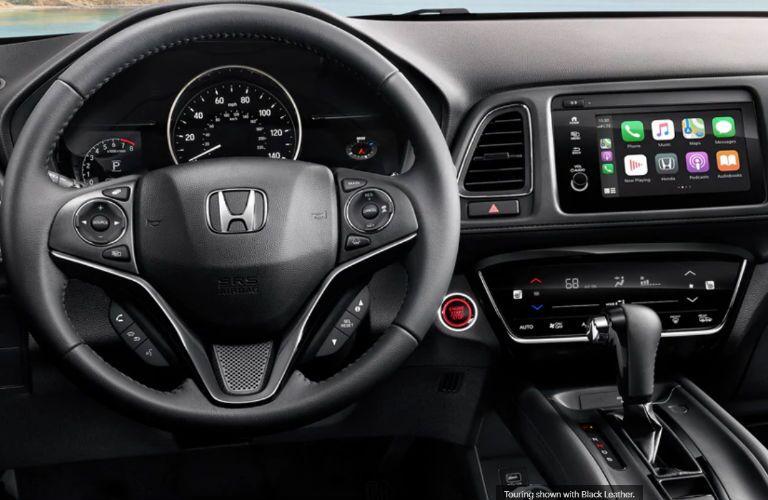 2020 Honda HR-V dashboard and steering wheel