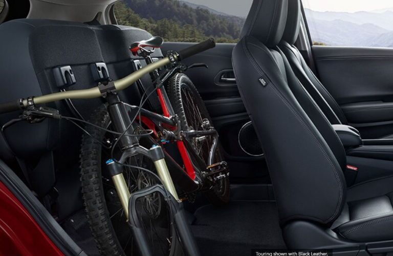 2020 Honda HR-V interior with a bike in it
