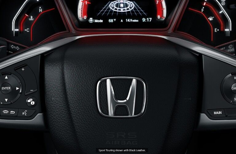 2021 Honda Civic Hatchback steering wheel