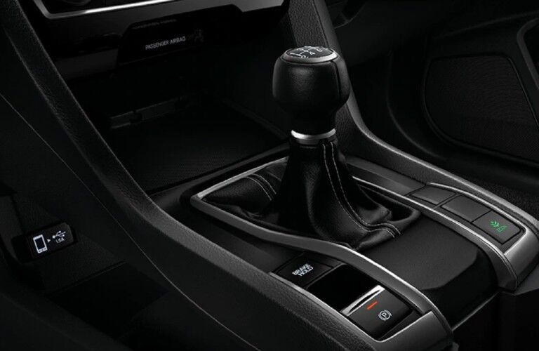 2021 Honda Civic Hatchback manual shift stick
