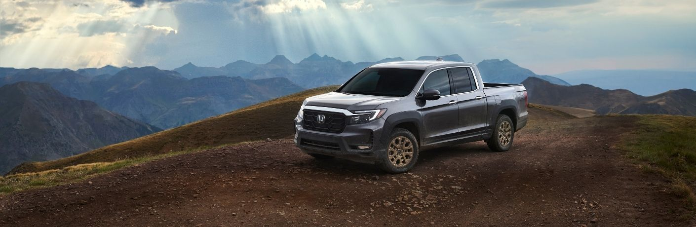 2021 Honda Ridgeline parked on a hill