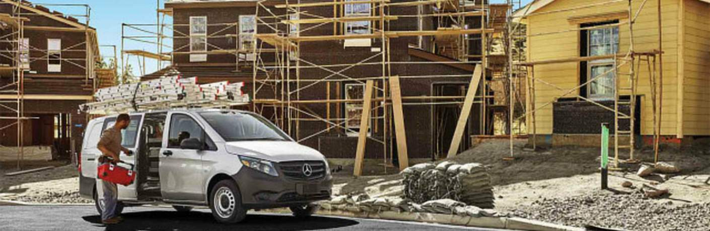2018 Mercedes-Benz Metris Cargo Van at a Construction Site