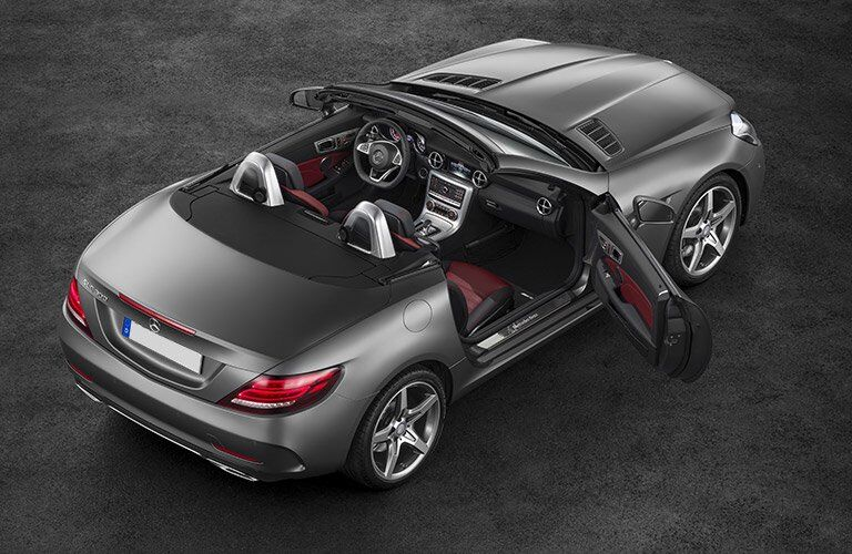 2017 Mercedes-Benz SLC with top down