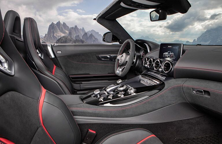 Side view of the 2018 Mercedes-AMG GT Roadster's front seats