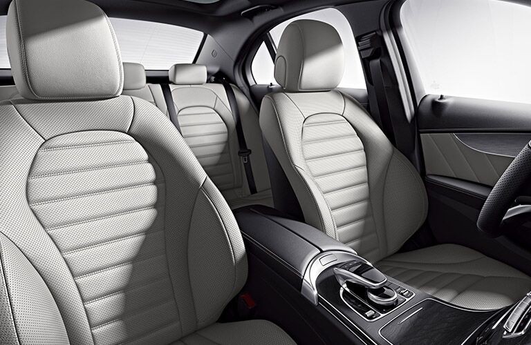 Front seats of the 2018 Mercedes-Benz C-Class Sedan