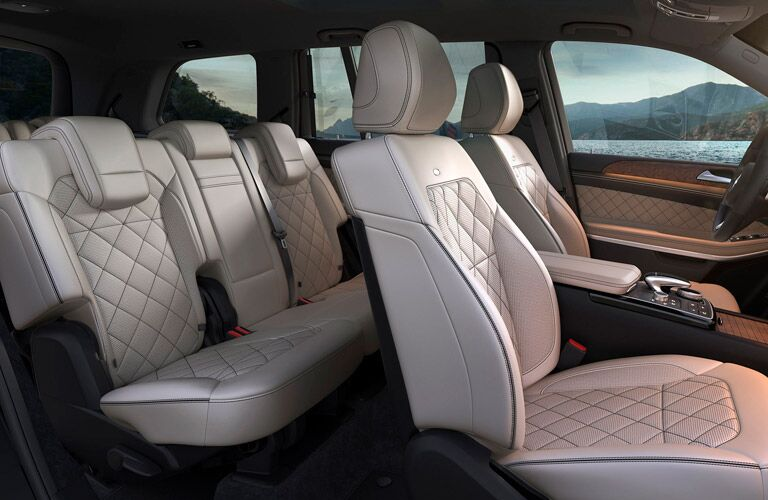 Side view of the seating in the 2018 Mercedes-Benz GLS