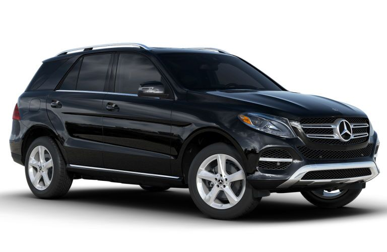2018 Mercedes-Benz GLE exterior front fascia and passenger side on white background