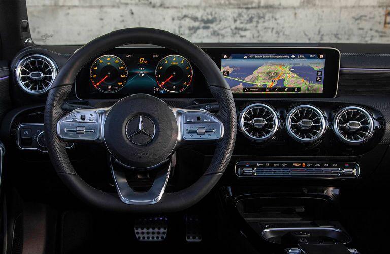 Driver's cockpit of the 2019 Mercedes-Benz A-Class Sedan