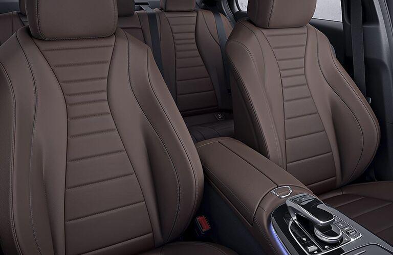 brown seats inside mercedes-benz e 300