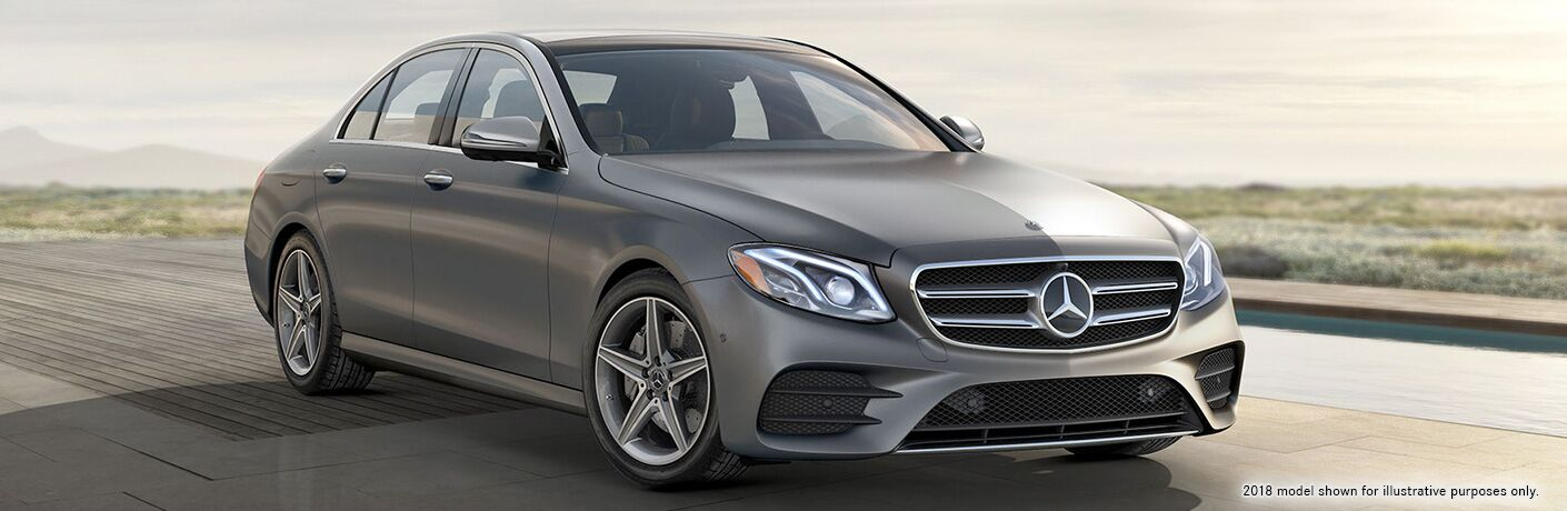 2019 Mercedes-Benz E-Class driving on country road