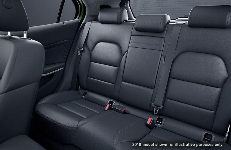 rear black seats of mercedes benz gla