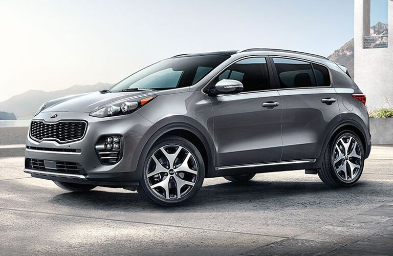 2018 Kia Sportage gray side view