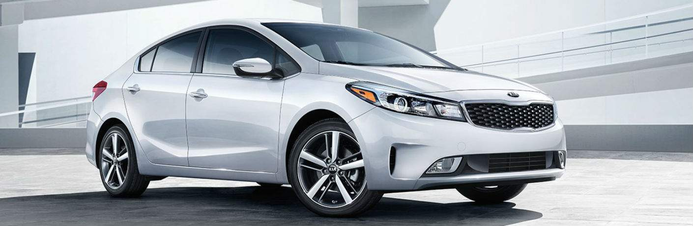 2018 Kia Forte silver parking garage