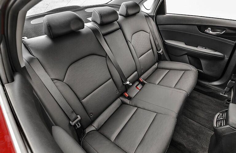 2020 Kia Forte black back seat