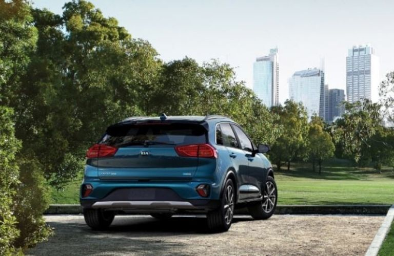 2020 Kia Niro parked rear view