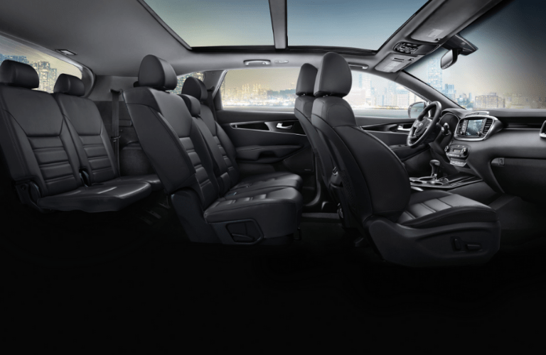 2020 Kia Sorento side view of interior