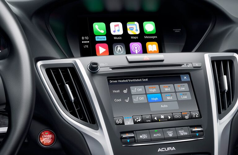 2018 Acura TLX dashboard close-up