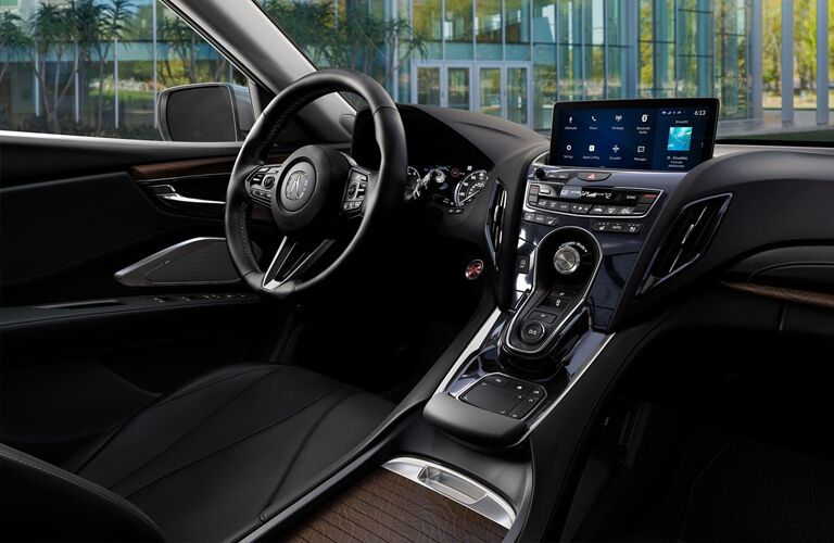 Gear shifter and touchscreen inside 2019 Acura RDX