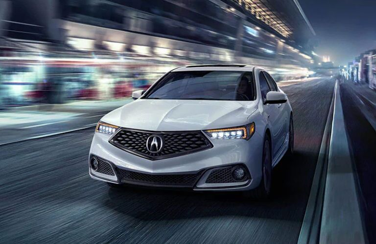 2020 Acura TLX with A-Spec package in white