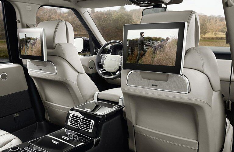 Back seat entertainment system in the 2017 Land Rover Range Rover
