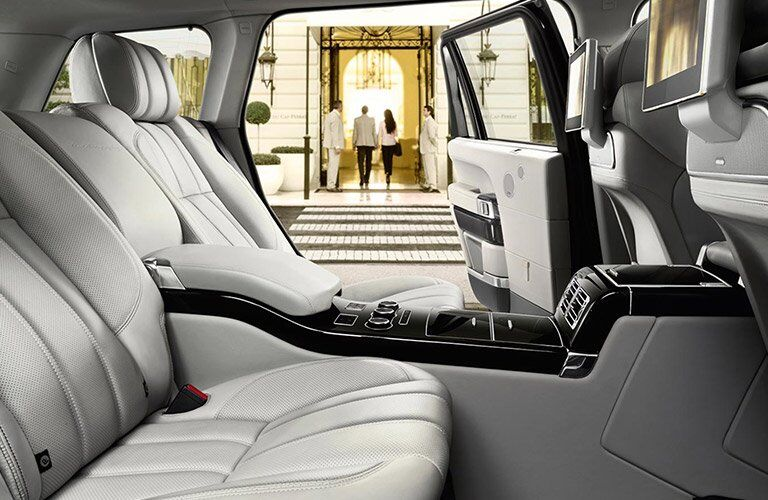 Rear seats of the 2017 Land Rover Range Rover