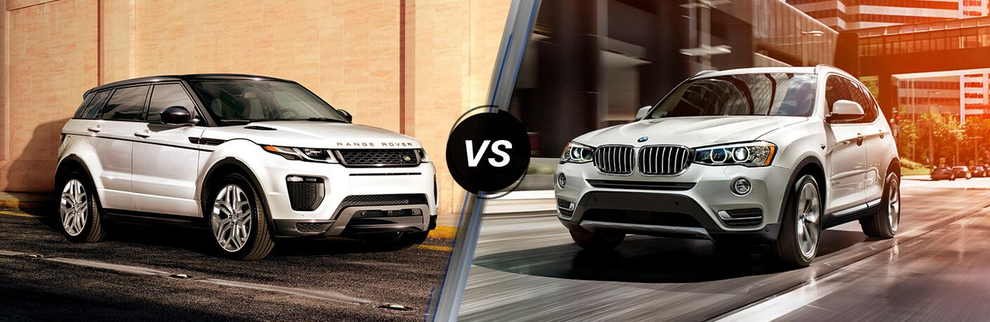 2017 range rover evoque vs 2017 bmw x3