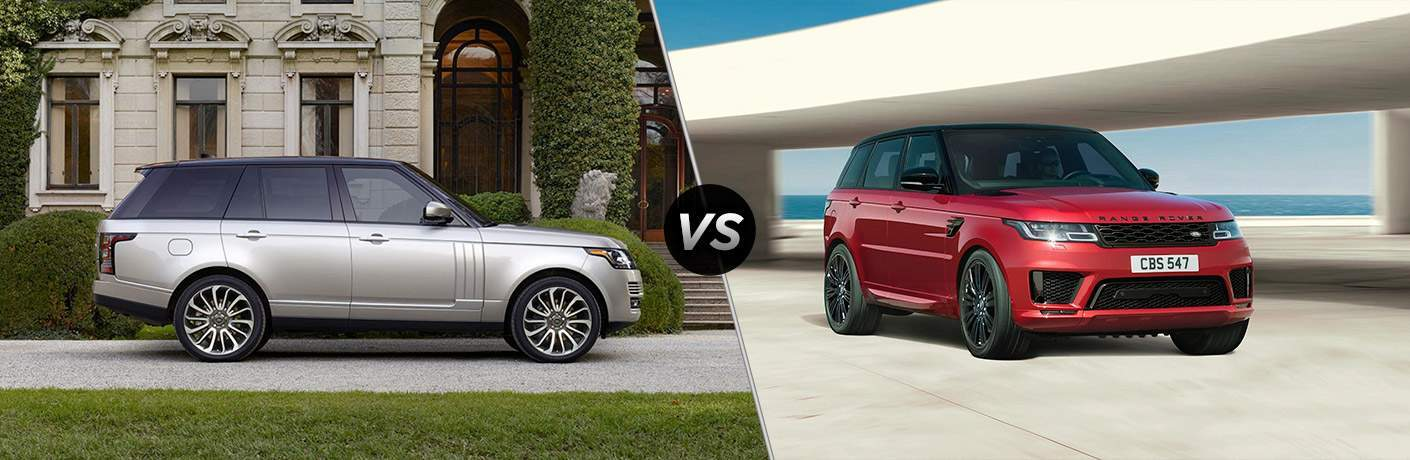 2017 Land Rover Range Rover Exterior Passenger Side Profile vs Range Rover Sport Exterior Passenger Side Front