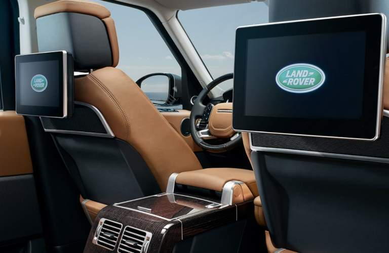 rear seat entertainment screens in the 2018 Land Rover Range Rover