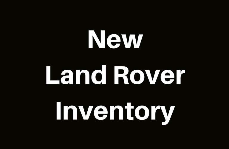 View New Land Rover Inventory at Land Rover Fairfield
