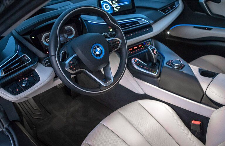2017 BMW i8 dashboard