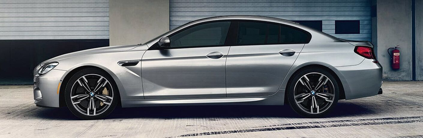 Side View of Silver 2019 BMW M6