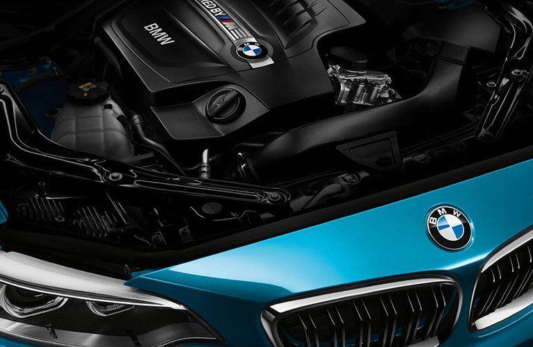 2017 BMW M2 under the hood