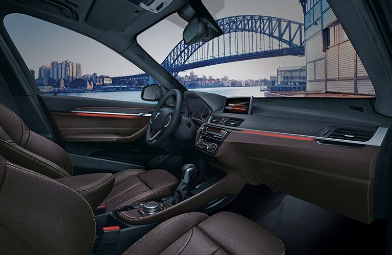 2017 BMW X1 front seat