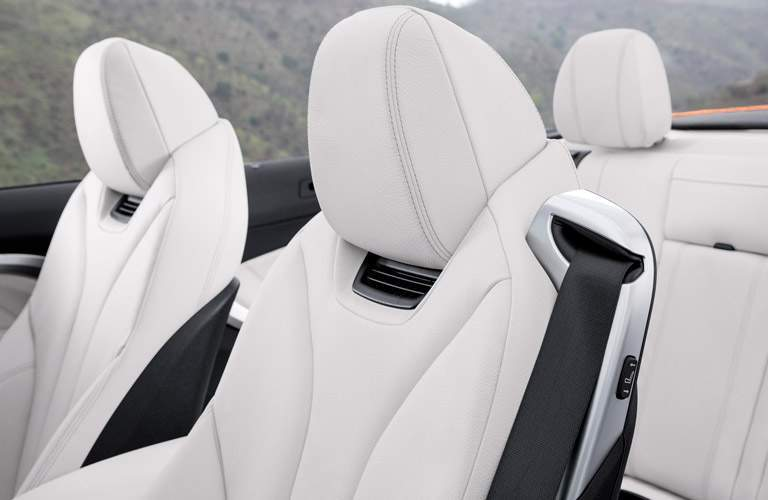 White Seats of 2018 BMW 4 Series Convertible