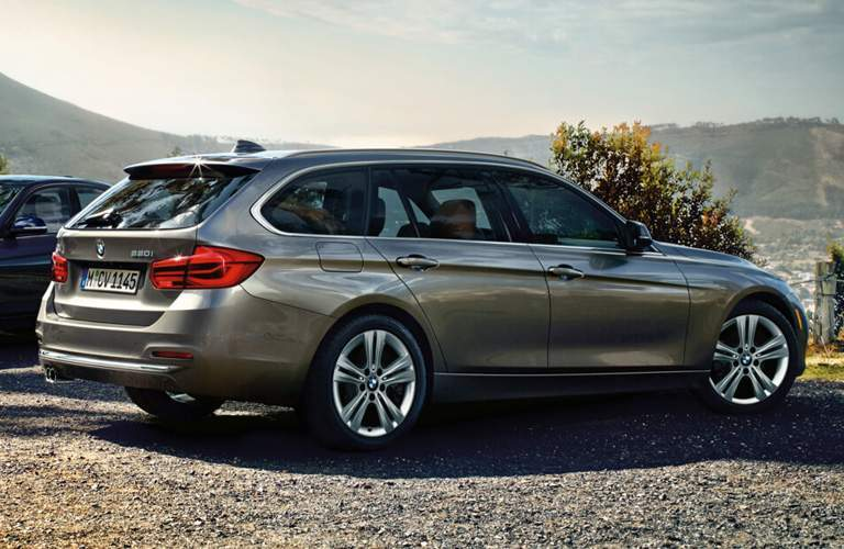 Side View of Grey 2018 BMW 3 Series Wagon