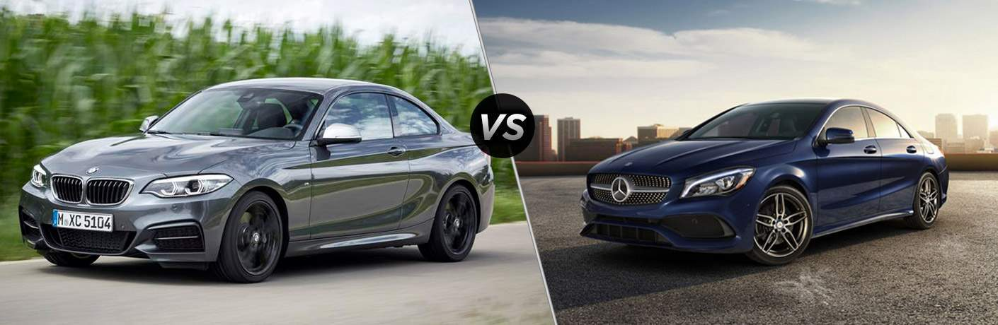 2018 bmw 2 series vs 2018 mercedes benz cla for Mercedes benz dealers in los angeles area