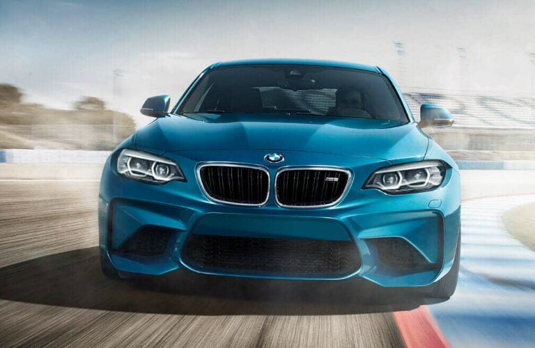 Front View of Blue 2018 BMW M2