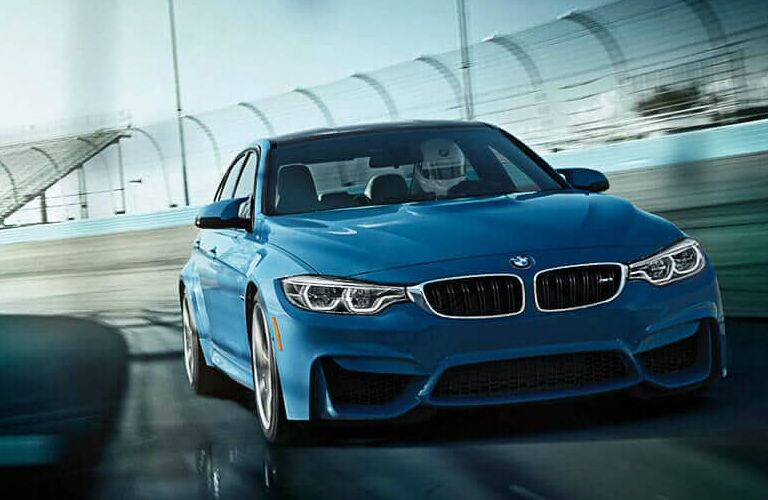 Front View of Blue 2018 BMW M3