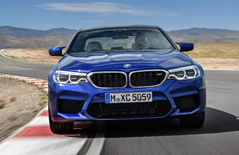 Front View of Blue 2018 BMW M5