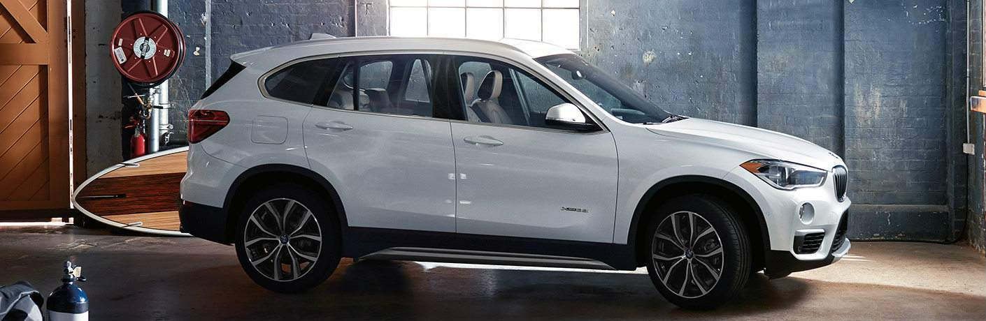 Side View of 2018 BMW X1 with White Exterior